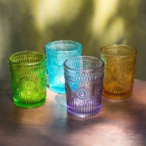 pressed glass tumbler